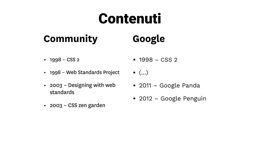 Google • 1998 – CSS 2 • (…) • 2011 – Google Pan...