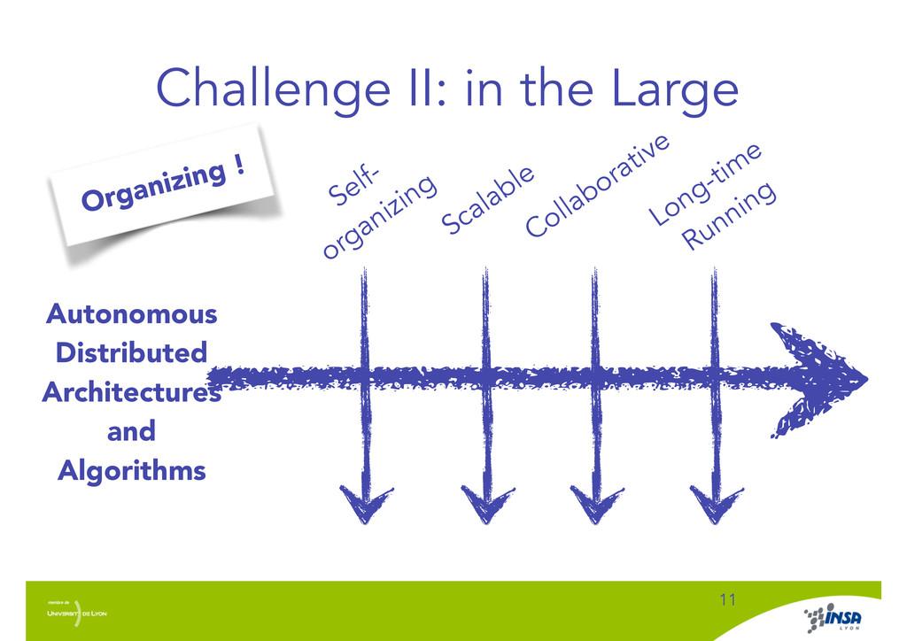 Challenge II: in the Large ! 11 Autonomous Dist...