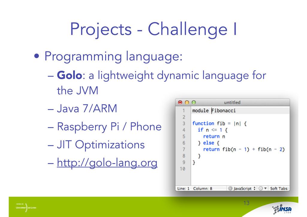 Projects - Challenge I ! 13 • Programming langu...