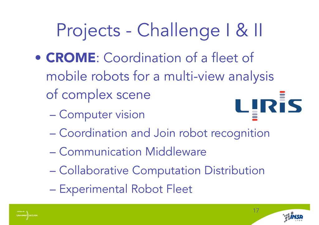 Projects - Challenge I & II • CROME: Coordinati...