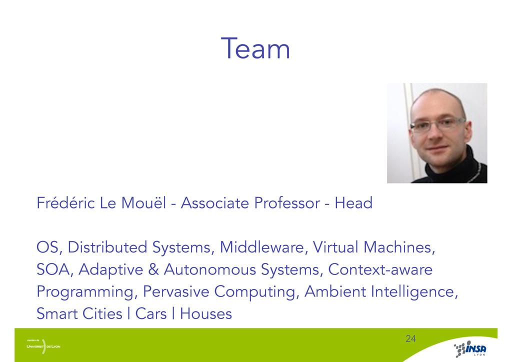 Team ! 24 Frédéric Le Mouël - Associate Profess...