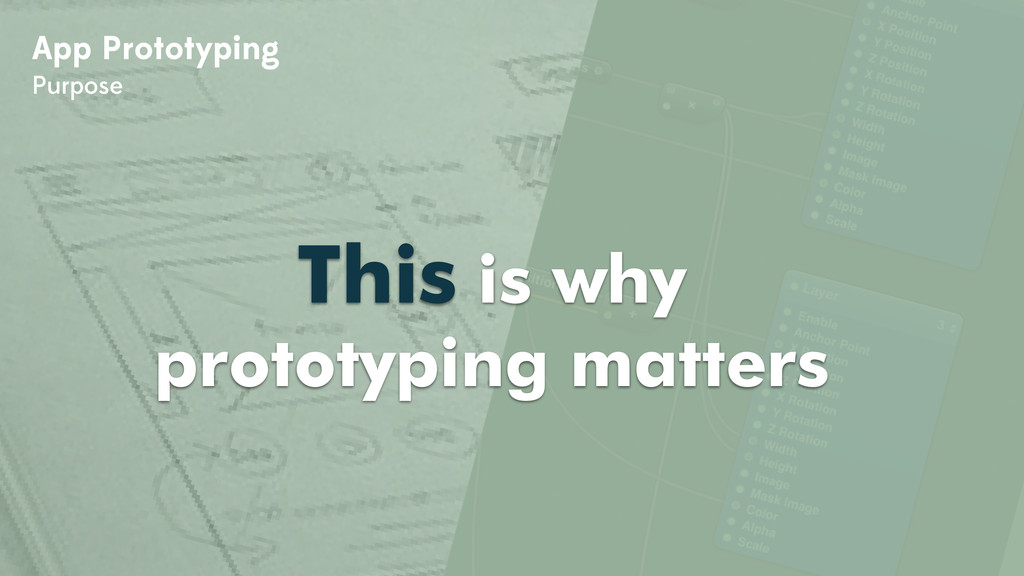 App Prototyping Purpose This is why prototyping...