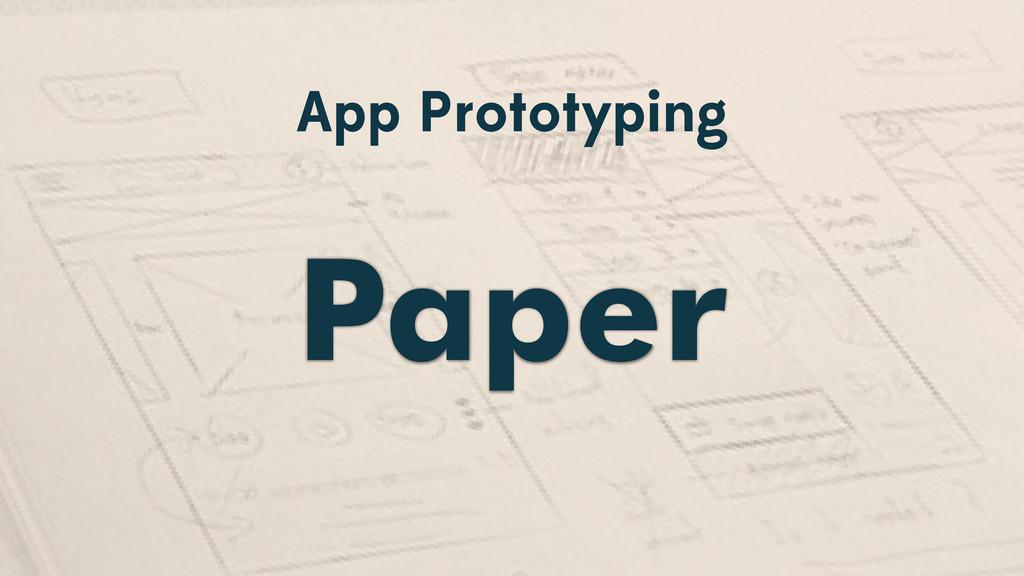 App Prototyping Paper