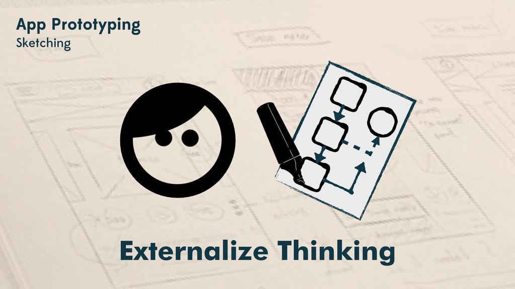 App Prototyping Sketching Externalize Thinking