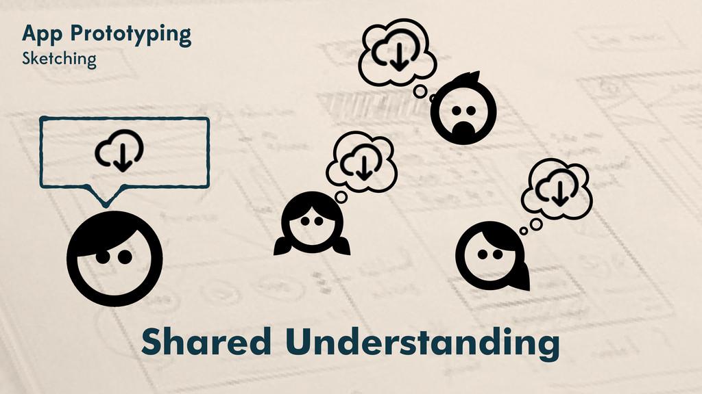 App Prototyping Sketching Shared Understanding