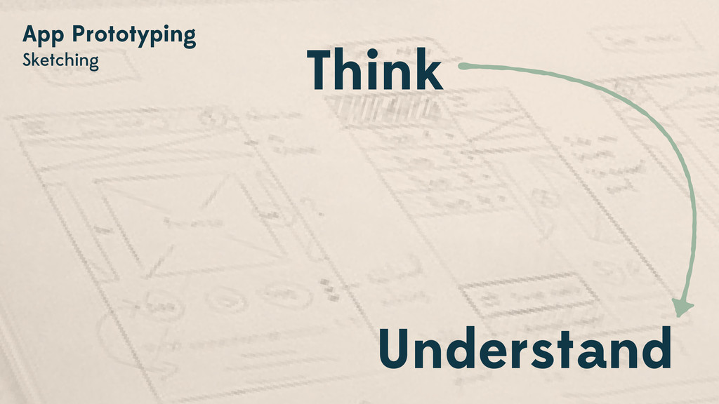 App Prototyping Sketching Think Understand