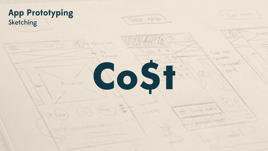 Co$t App Prototyping Sketching