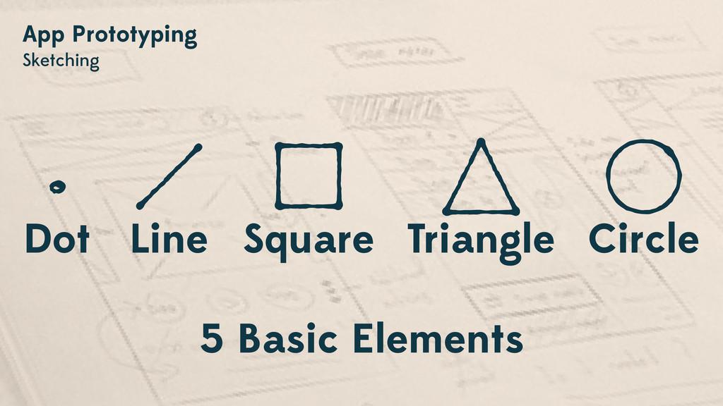 App Prototyping Sketching 5 Basic Elements Dot ...