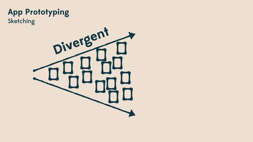 App Prototyping Sketching Divergent