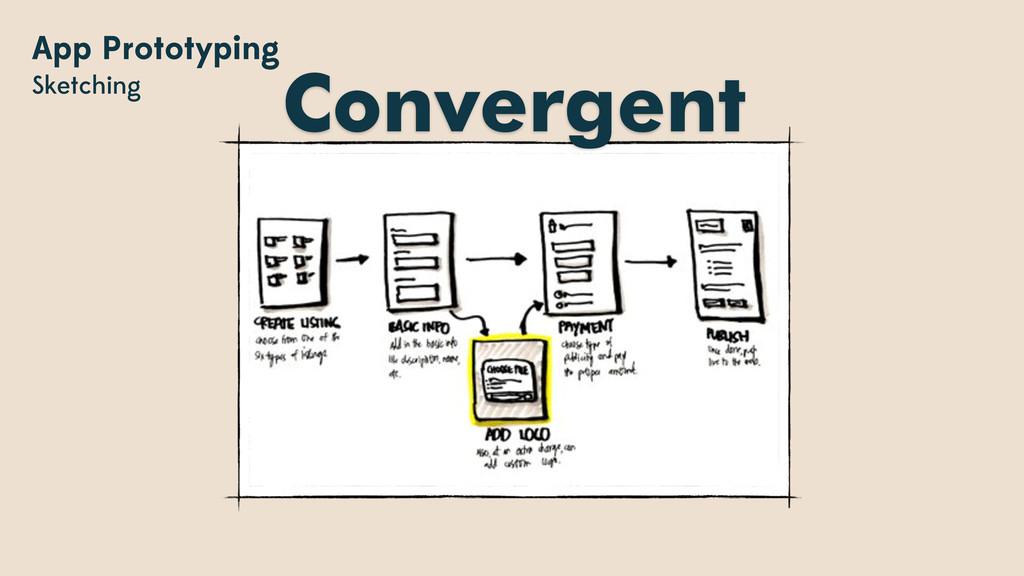 App Prototyping Sketching Convergent