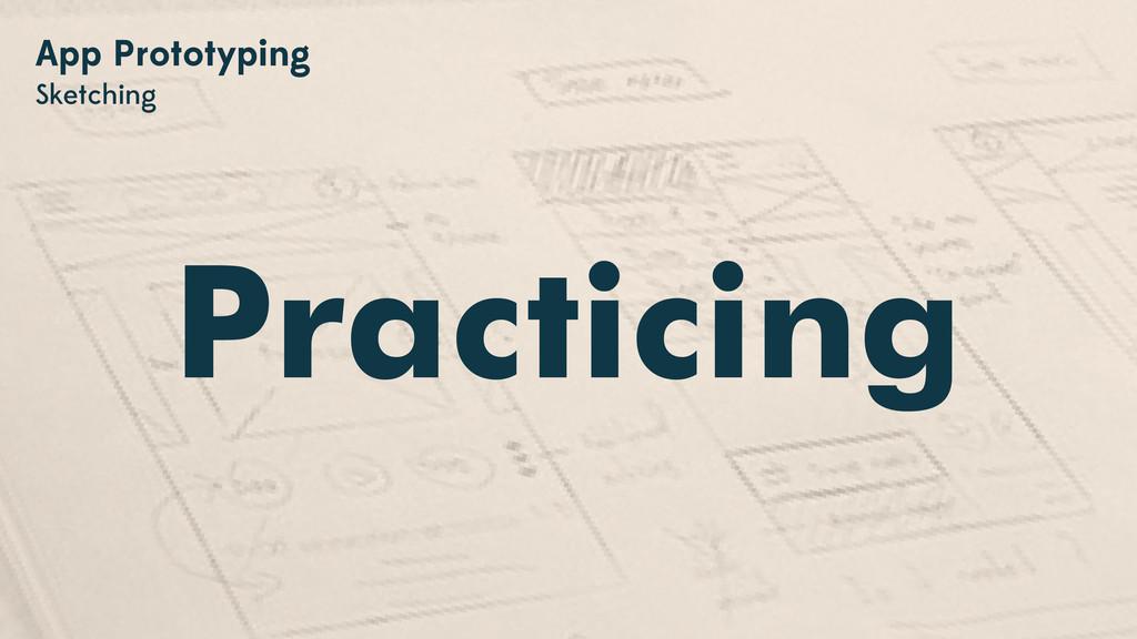 Practicing App Prototyping Sketching