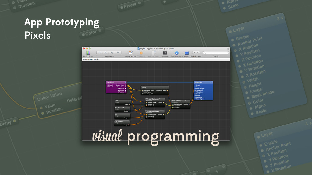 visual programming App Prototyping Pixels
