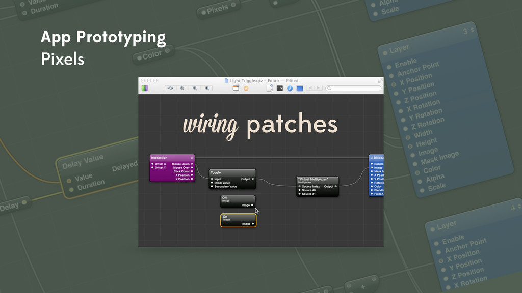 wiring patches App Prototyping Pixels