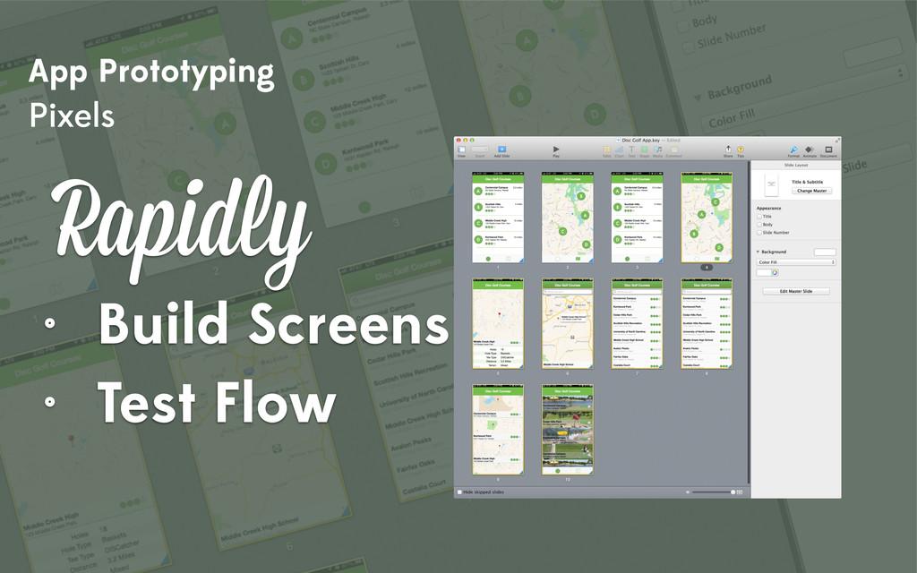 App Prototyping Pixels Rapidly • Build Screens ...