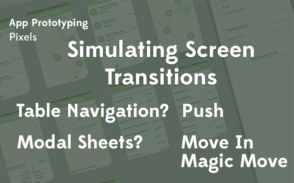 App Prototyping Pixels Simulating Screen Transi...