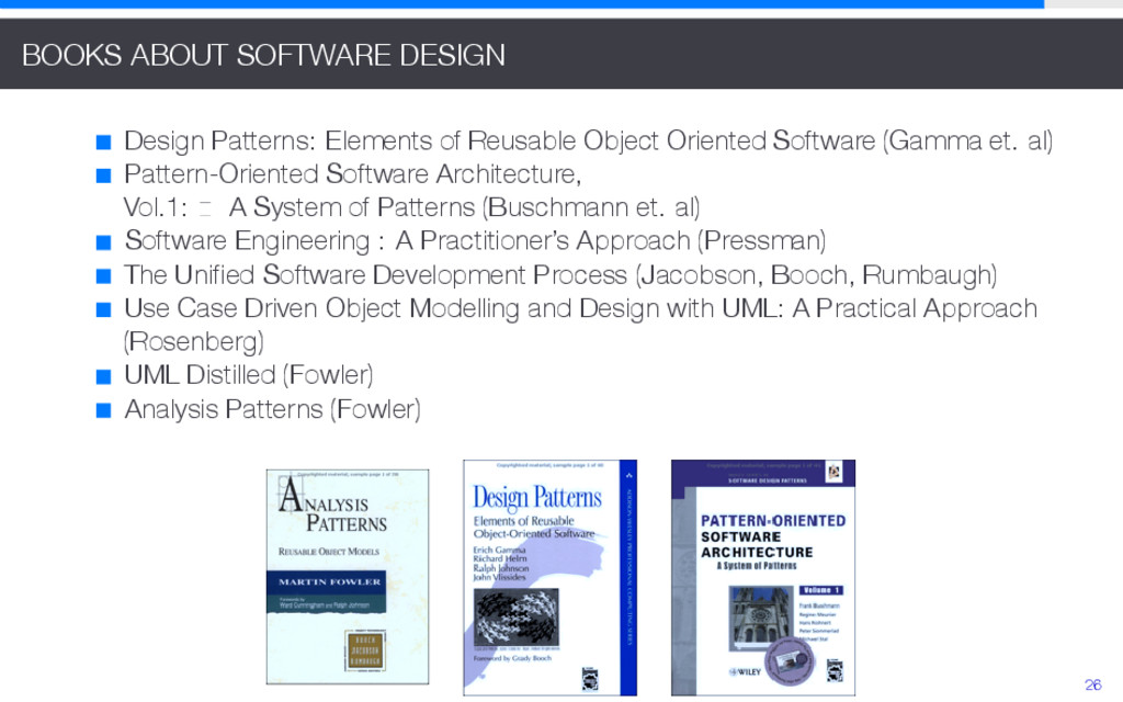 BOOKS ABOUT SOFTWARE DESIGN Design Patterns: El...
