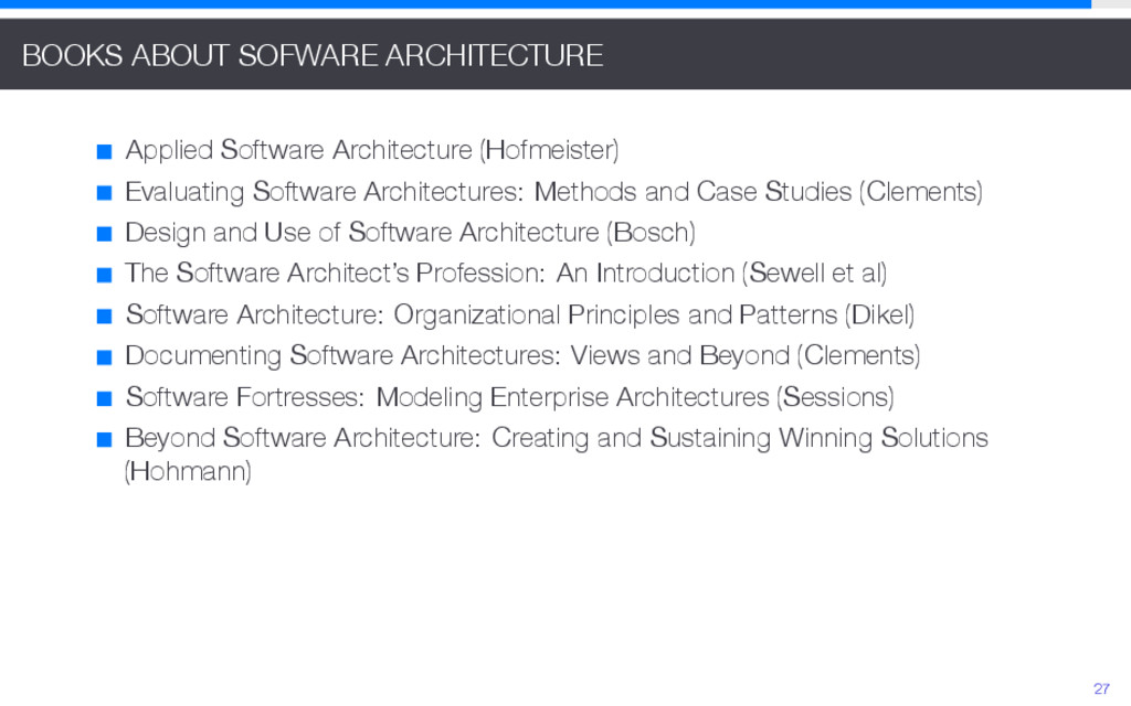 BOOKS ABOUT SOFWARE ARCHITECTURE Applied Softwa...