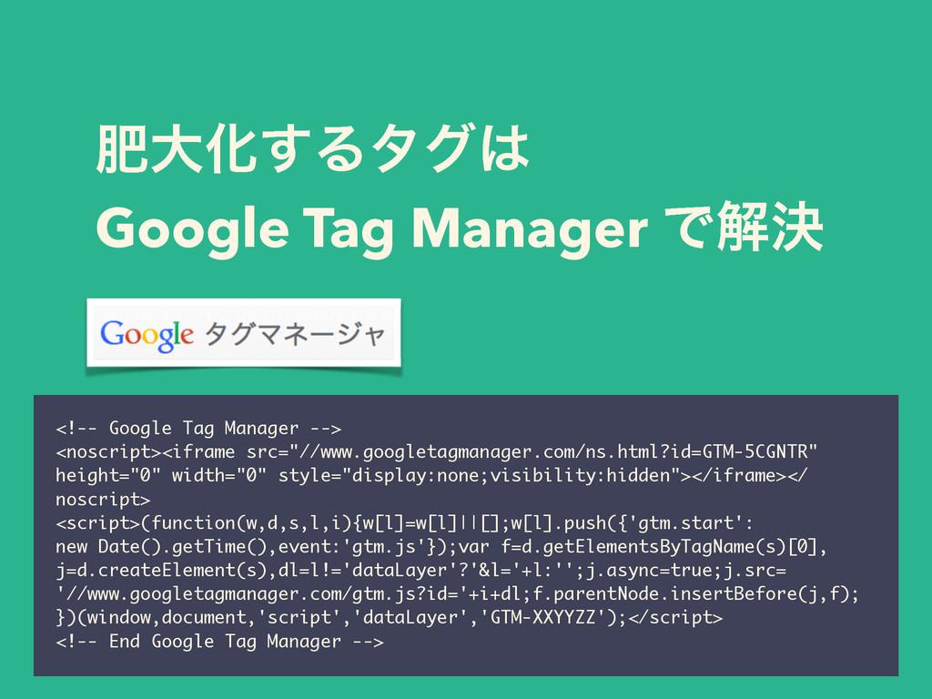 ංେԽ͢Δλά Google Tag Manager Ͱղܾ <!-- Google Tag...