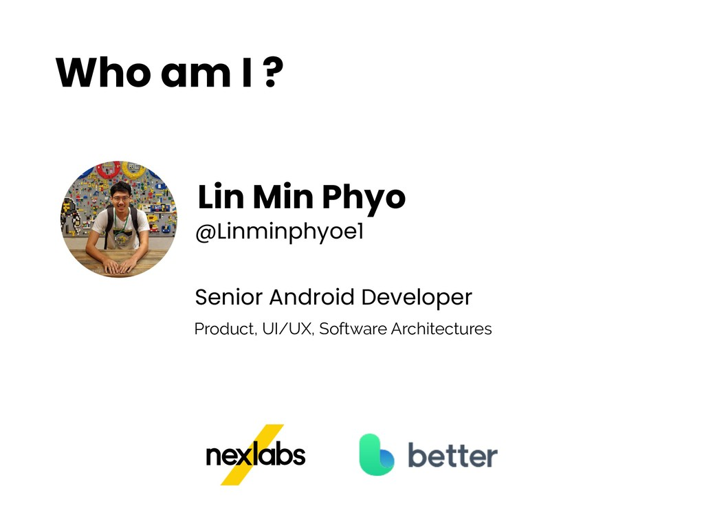 Who am I ? Lin Min Phyo @Linminphyoe1 Senior An...