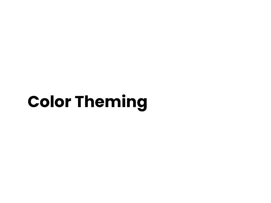 Color Theming