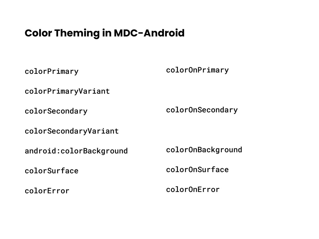 Color Theming in MDC-Android colorPrimary color...