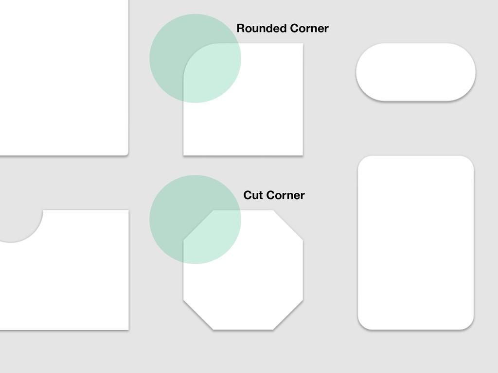 Rounded Corner Cut Corner