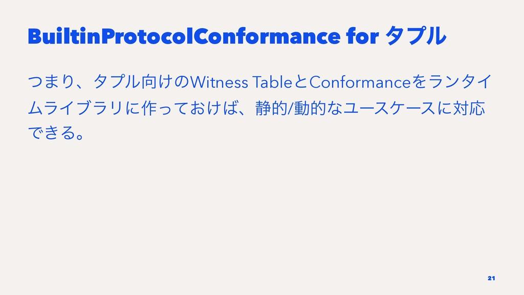 BuiltinProtocolConformance for λϓϧ ͭ·Γɺλϓϧ͚ͷWi...