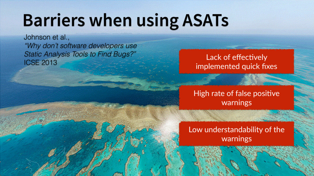7 Barriers when using ASATs Lack of effec6vely i...
