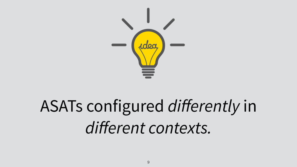 ASATs configured differently in different context...