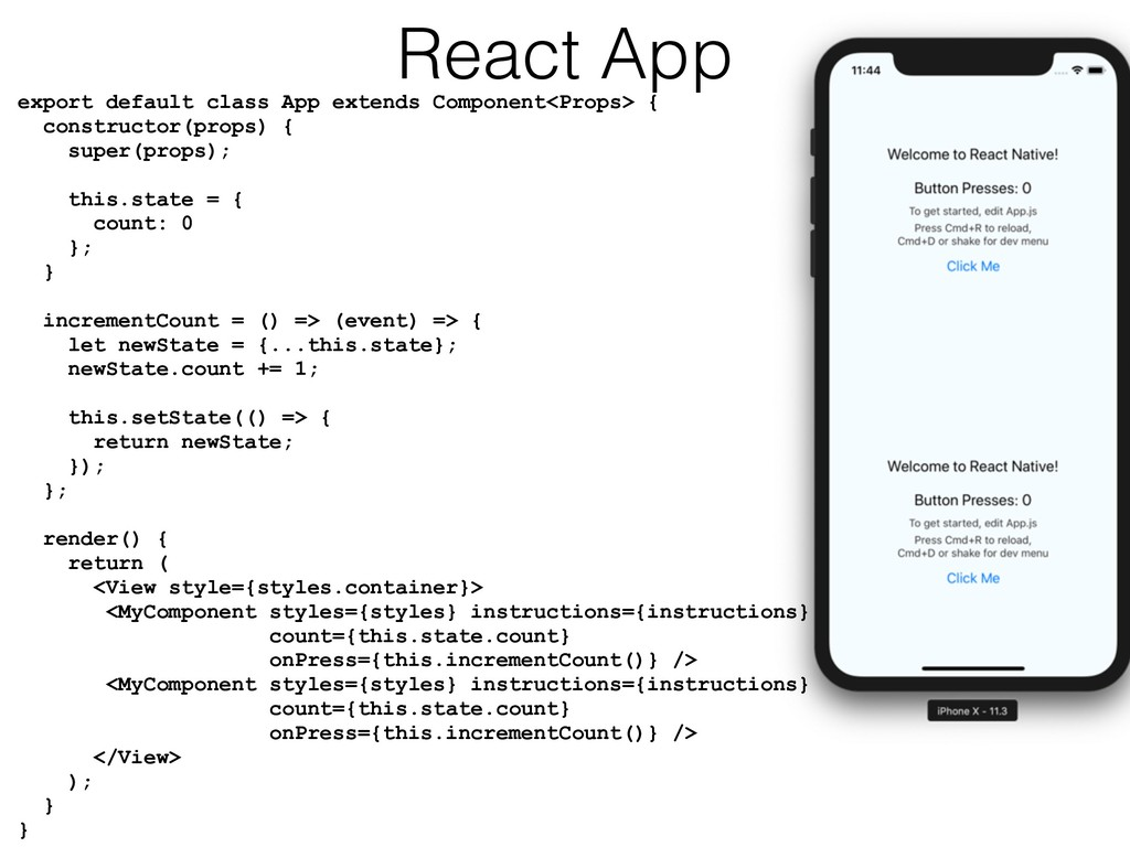 export default class App extends Component<Prop...