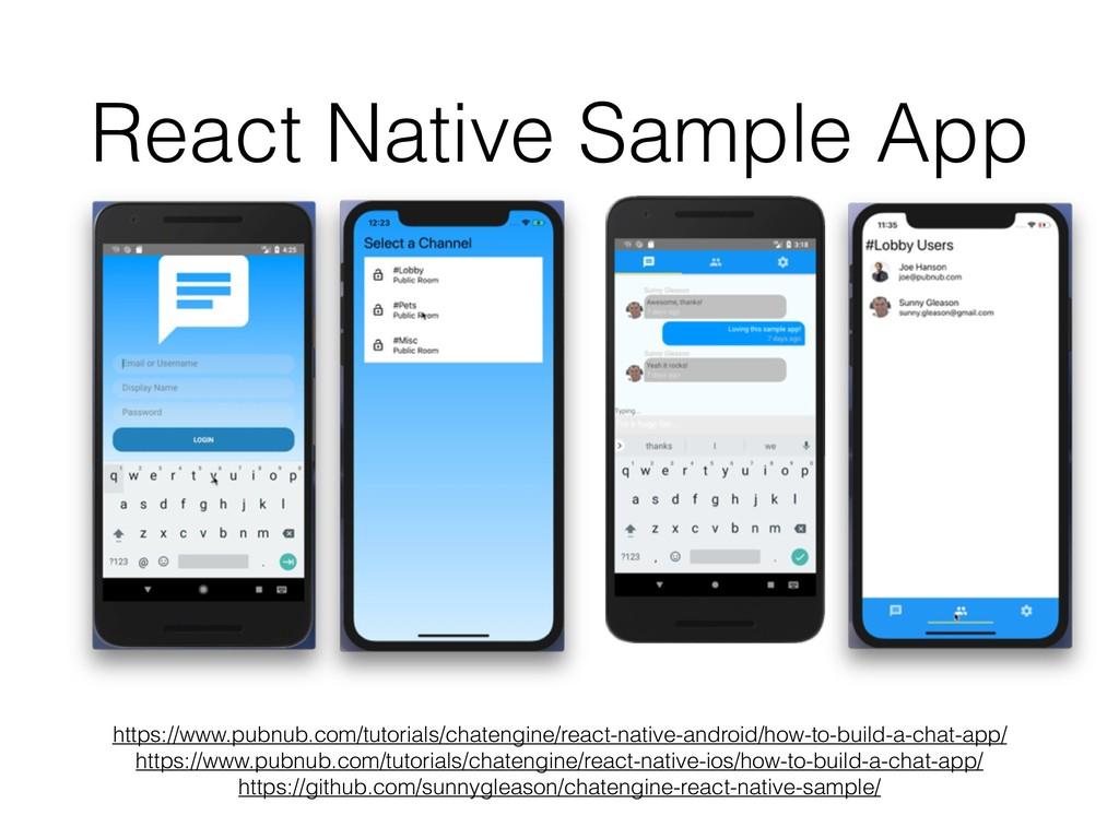React Native Sample App https://www.pubnub.com/...