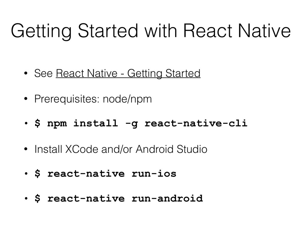 Getting Started with React Native • See React N...
