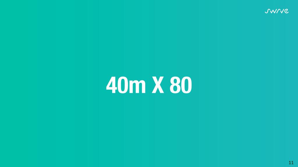 11  40m X 80