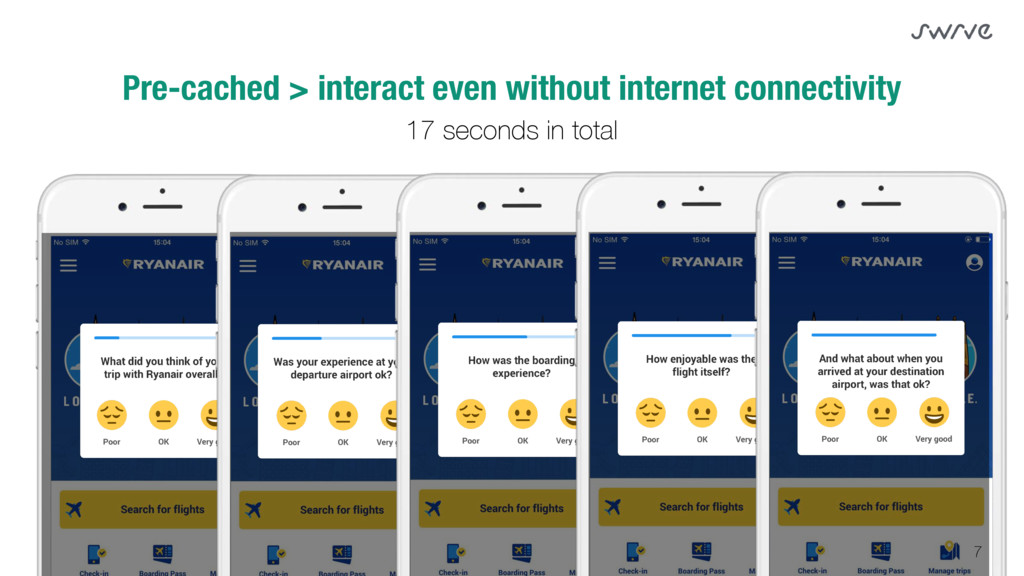 7 Pre-cached > interact even without internet c...