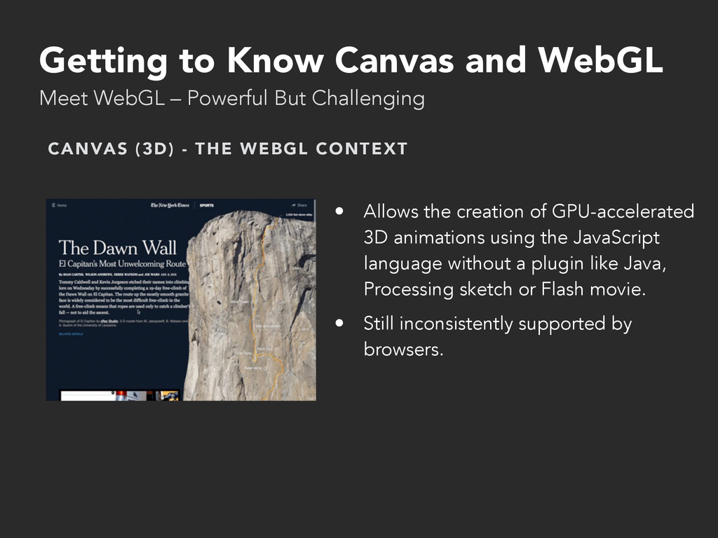 Getting to Know Canvas and WebGL Meet WebGL – P...