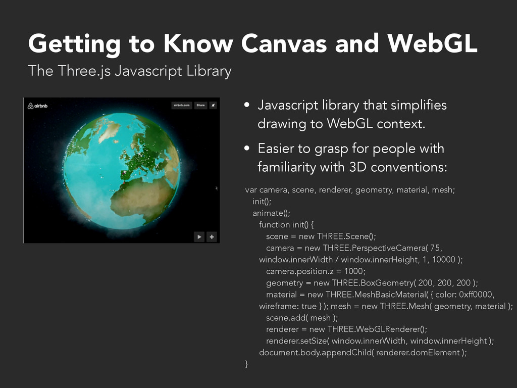 Getting to Know Canvas and WebGL • Javascript l...