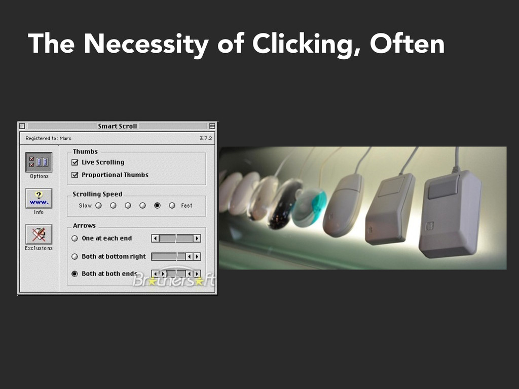 The Necessity of Clicking, Often