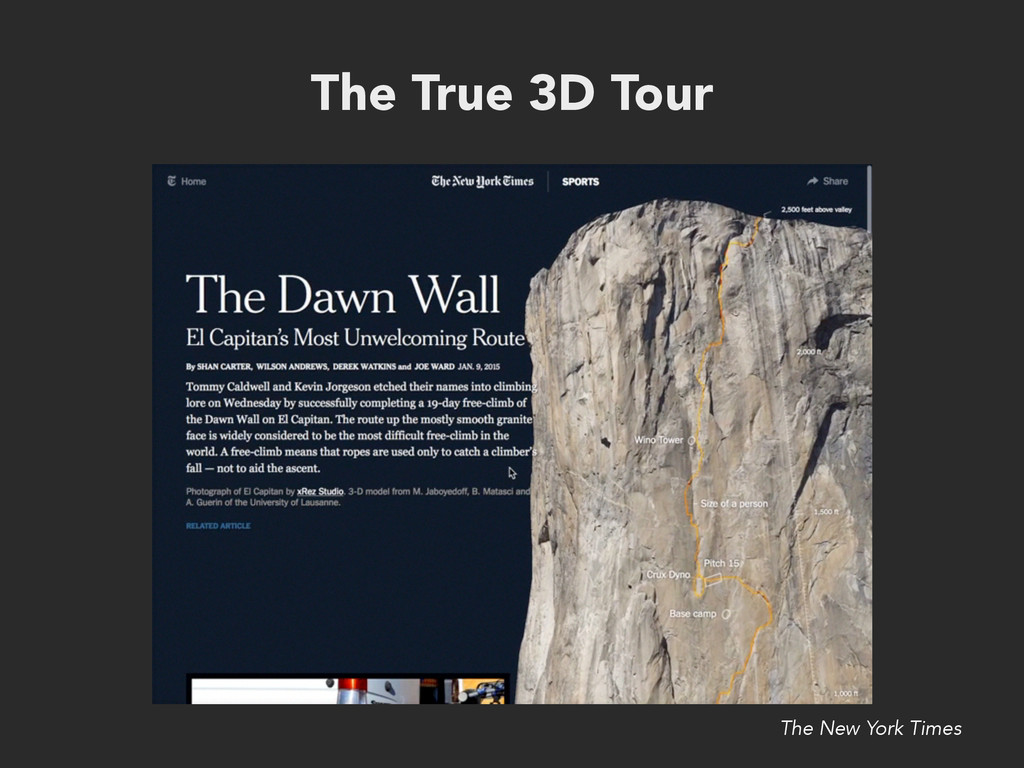The True 3D Tour The New York Times