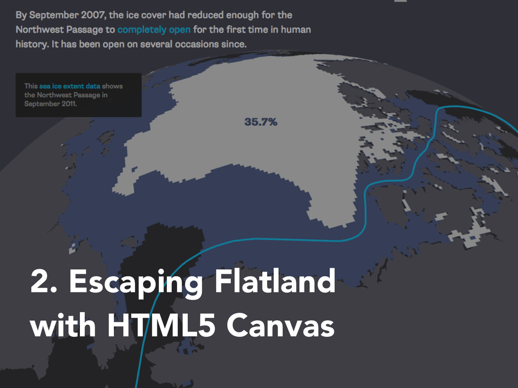 2. Escaping Flatland with HTML5 Canvas