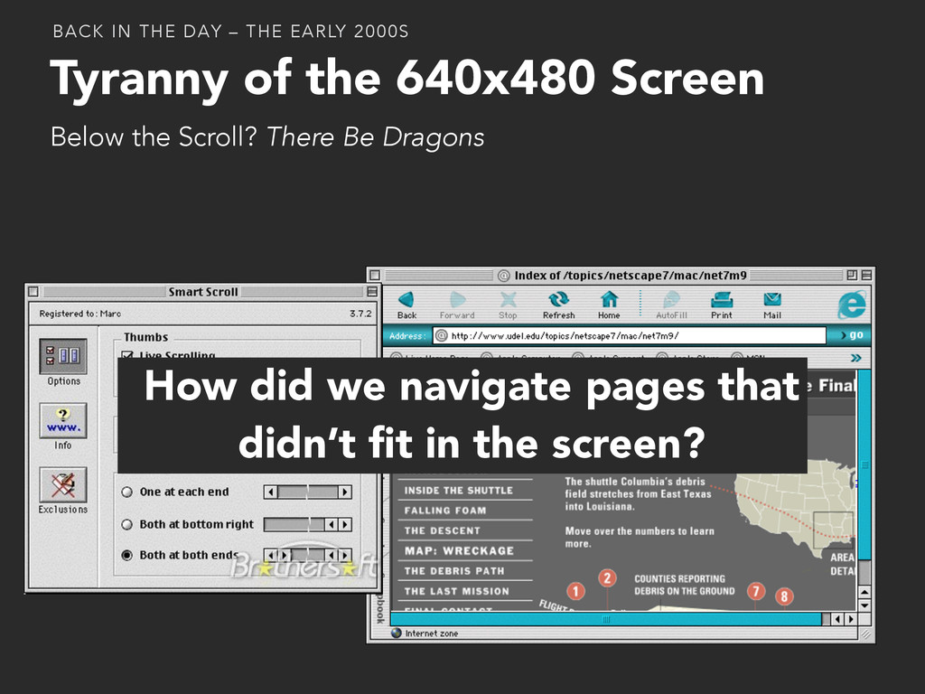 Tyranny of the 640x480 Screen Below the Scroll?...