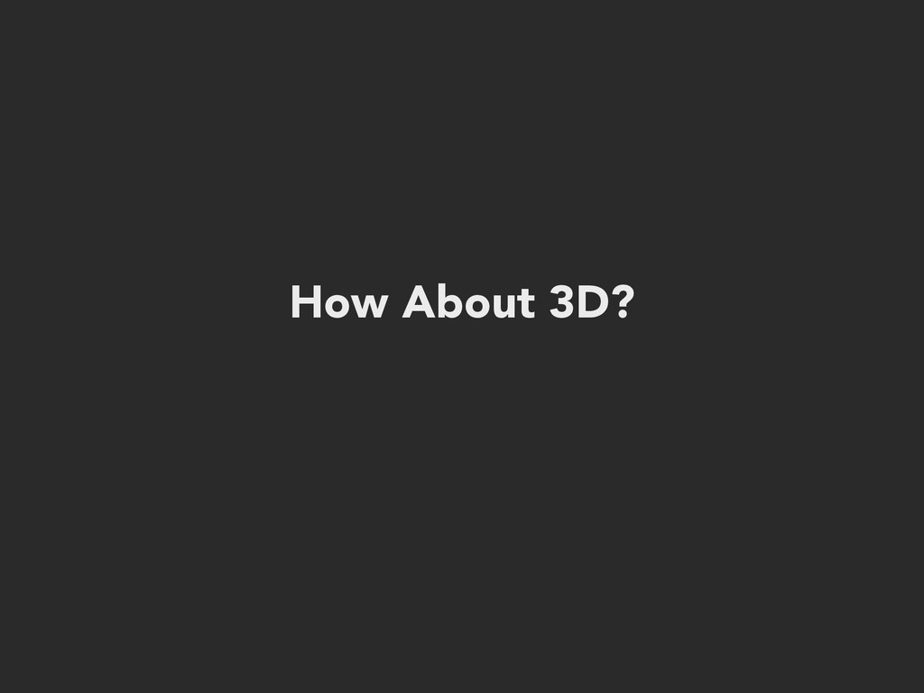 How About 3D?