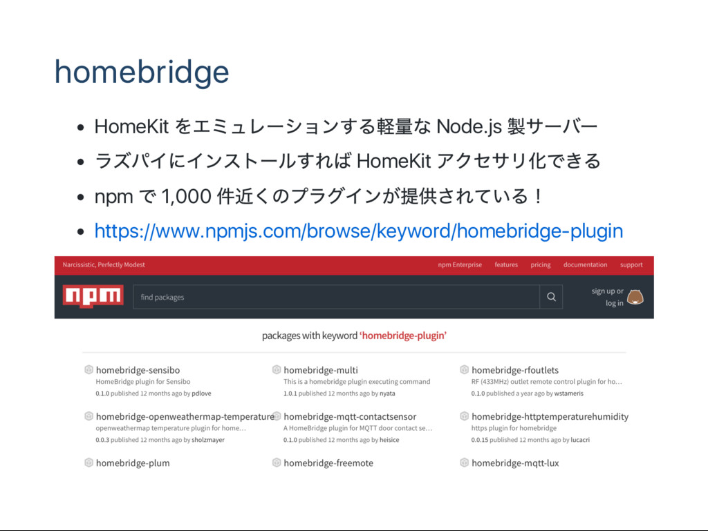 homebridge HomeKit Node.js HomeKit npm 1,000 ht...