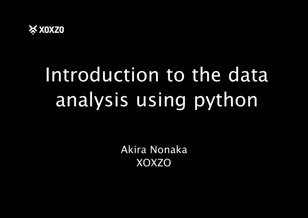 Introduction to the data analysis using python ...
