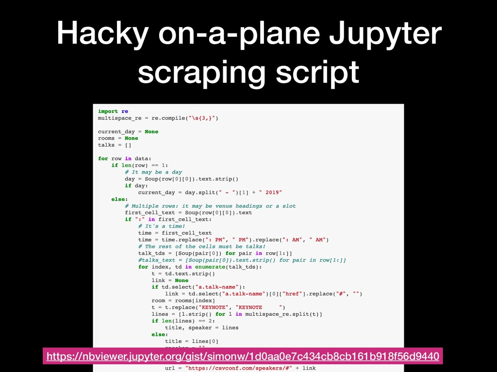 Hacky on-a-plane Jupyter scraping script https:...