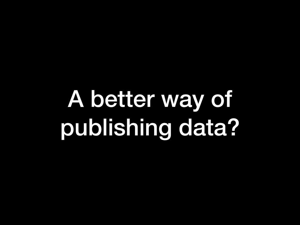 A better way of publishing data?