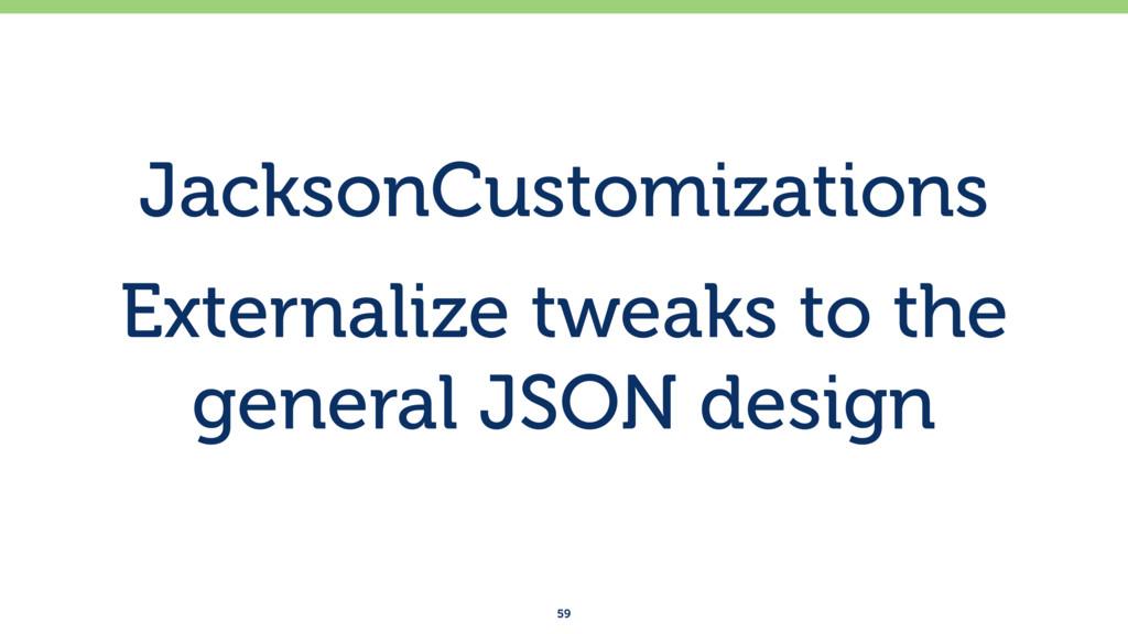 JacksonCustomizations Externalize tweaks to the...