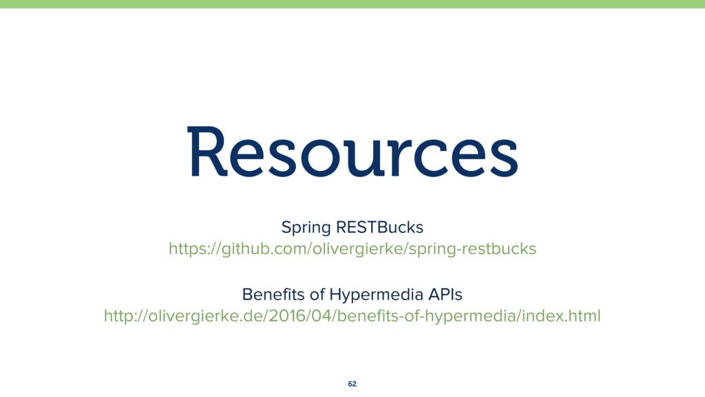 Resources 62 Spring RESTBucks https://github.c...