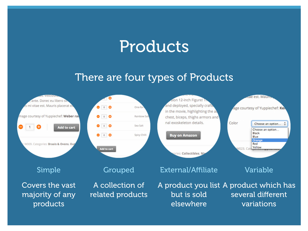 Simple Covers the vast majority of any products...