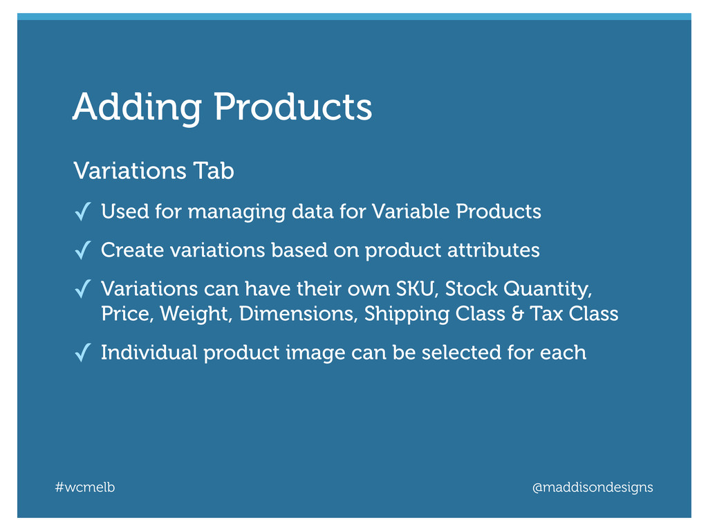 #wcmelb @maddisondesigns Variations Tab ✓ Used ...