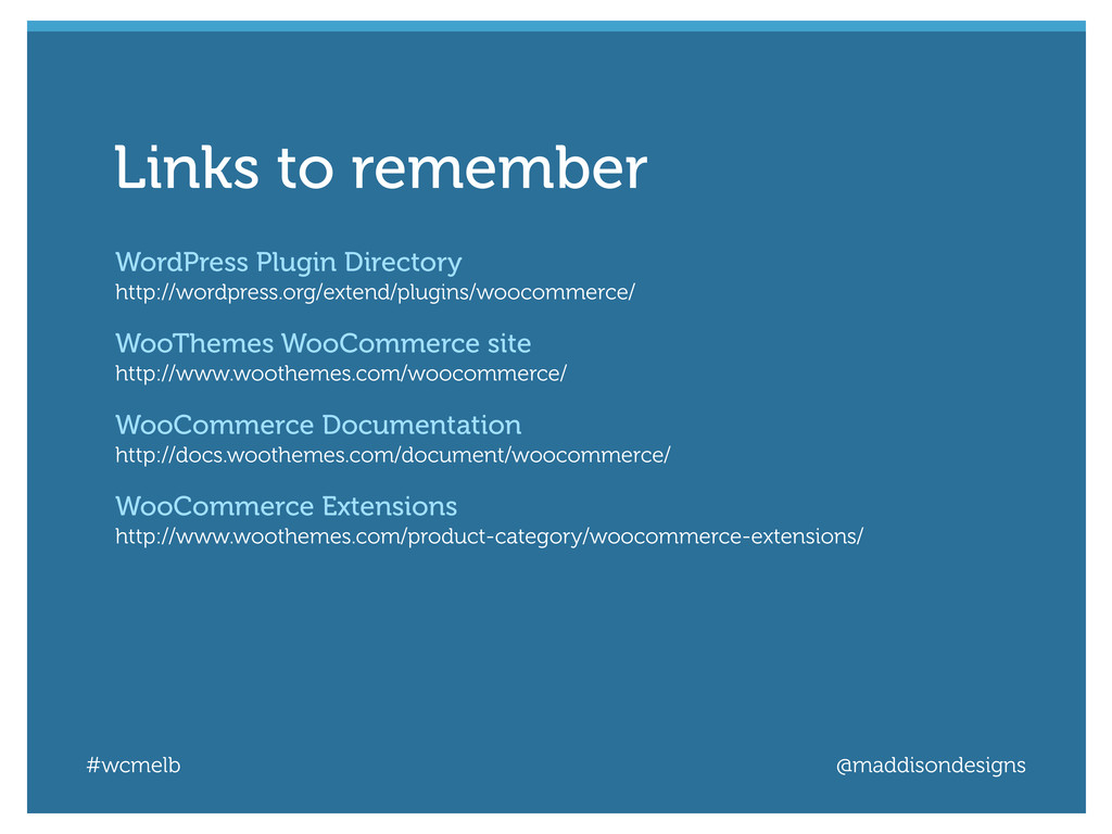 #wcmelb @maddisondesigns WordPress Plugin Direc...